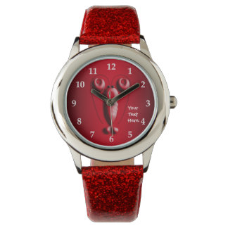 Cute Adorable Red Lobster Heart-Shaped Pincers Wrist Watches
