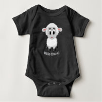 Cute Adorable Sheep and Chick Graphic Baby Bodysuit