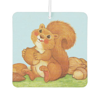 Cute Adorable Squirrel Acorns Nuts Air Freshener