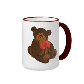 CUTE ADORABLE TEDDY BEAR RINGER COFFEE MUG