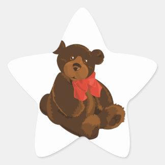 CUTE ADORABLE TEDDY BEAR STAR STICKER