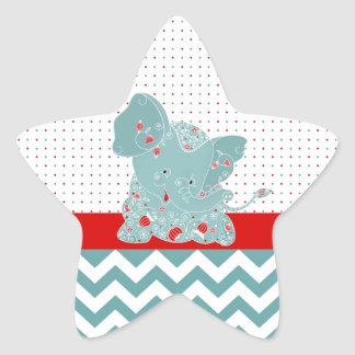 Cute adorable trendy flowers baby elephant stickers