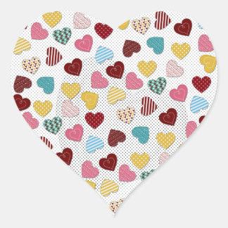 Cute adorable trendy hearts pattern heart sticker