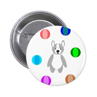 cute adoring Boston terrier Puppies Pinback Button