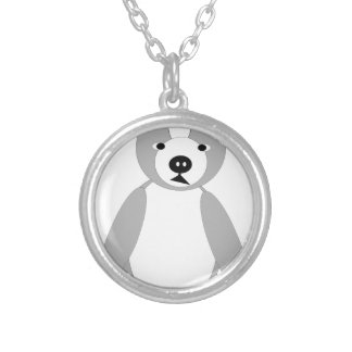 cute adoring Boston terrier Puppies Round Pendant Necklace