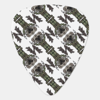 Cute Adventure Pug holding Fish Cartoon Pattern Guitar Pick