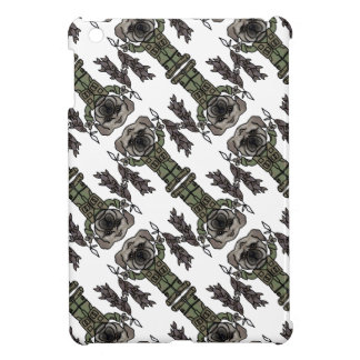 Cute Adventure Pug holding Fish Cartoon Pattern iPad Mini Cover