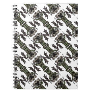 Cute Adventure Pug holding Fish Cartoon Pattern Spiral Notebook