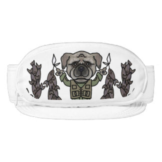 Cute Adventure Pug holding Fish Cartoon Pattern Visor