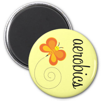 Cute Aerobics Butterfly Gift Magnet