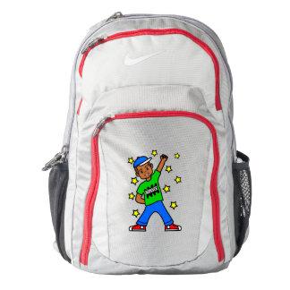 Cute African American Boy Winner Backpack