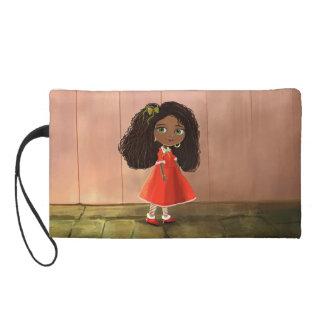 cute African American cartoon girl Bagettes Bag