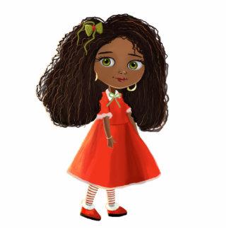 cute African American cartoon girl Photo Sculpture