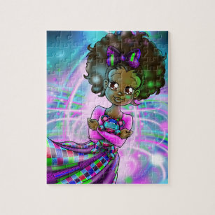 Jigsaw Puzzles for Adults 500 Pieces African American Lady Puzzle Fun Family Game Black Women Oil Painting Kids Toy Educational Intellectual Decompressing 2063247