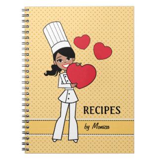 Cute African American Girl Culinary Notebook