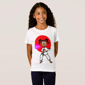 Cute African American Karate Girl T-shirt
