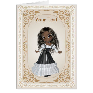 Cute African American Princess Greeting Card