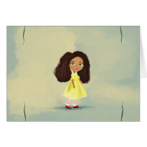 cute African cartoon girl Card
