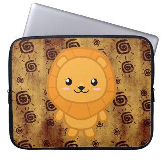 Cute African Lion Laptop Sleeve