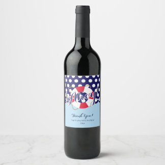 Cute, Ahoy! Nautical Wine Label