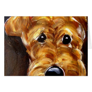 Cute Airedale Art Cards