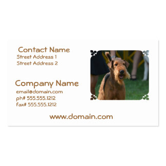 Cute Airedale Terrier Business Card Templates