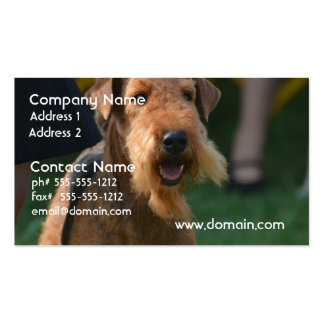 Cute Airedale Terrier Business Card