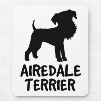Cute Airedale Terrier Mouse Pad
