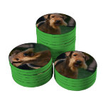 Cute Airedale Terrier Poker Chips