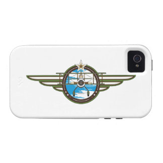 Cute Airforce Pilot and Biplane Case For The iPhone 4