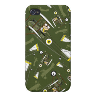 Cute Airforce Pilot and Biplane Cases For iPhone 4
