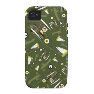 Cute Airforce Pilot and Biplane iPhone 4/4S Case