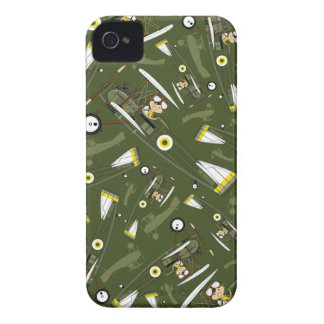 Cute Airforce Pilot and Biplane iPhone 4 Cover