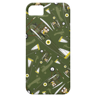 Cute Airforce Pilot and Biplane iPhone SE/5/5s Case