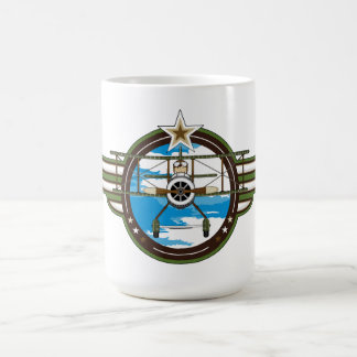 Cute Airforce Pilot and Biplane Classic White Coffee Mug