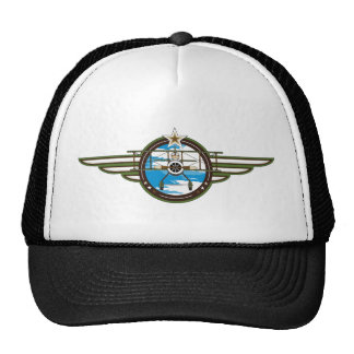 Cute Airforce Pilot and Biplane Trucker Hat