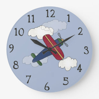 Cute Airplane Decorative Wall Clock
