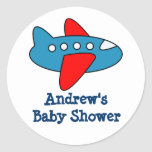 Cute airplane stickers for baby shower party