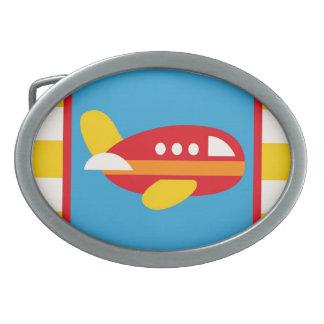Cute Airplane Transportation Theme Kids Gifts Belt Buckles