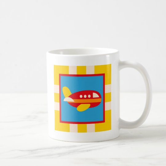 Cute Airplane Transportation Theme Kids Gifts Coffee Mug