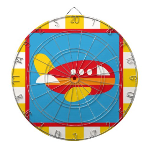 Cute Airplane Transportation Theme Kids Gifts Dart Board