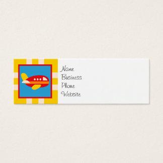 Cute Airplane Transportation Theme Kids Gifts Mini Business Card