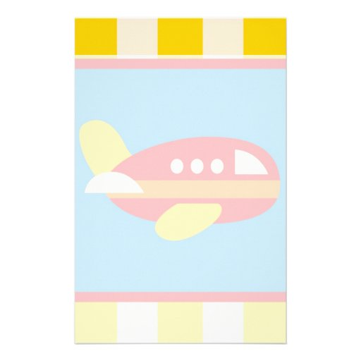 Cute Airplane Transportation Theme Kids Gifts Stationery Design