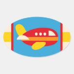 Cute Airplane Transportation Theme Kids Gifts Sticker