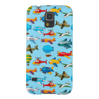 Cute Airplanes Helicopters Airships  Pattern Galaxy S5 Cover