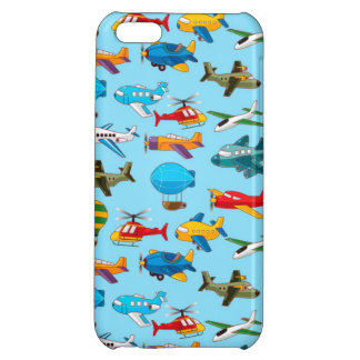 Cute Airplanes Helicopters Airships  Pattern iPhone 5C Case