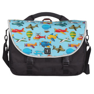 Cute Airplanes Helicopters Airships  Pattern Commuter Bags