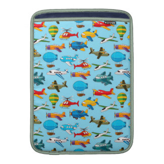 Cute Airplanes Helicopters Airships  Pattern MacBook Air Sleeve