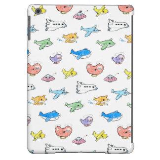 Cute airplanes iPad air cover