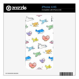 Cute airplanes iPhone 4 skin
